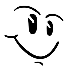 smile face vector image vector image