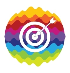 Target rainbow color icon for mobile applications vector