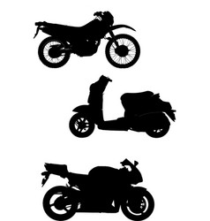 Three of motorcycle help for designers vector
