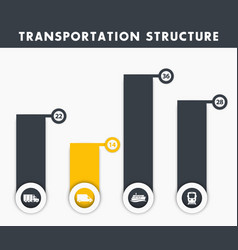 transportation structure infographics elements vector image vector image