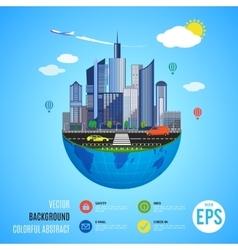 Urban earth concept vector