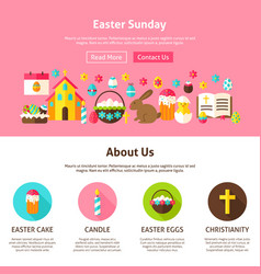 Web design easter sunday vector