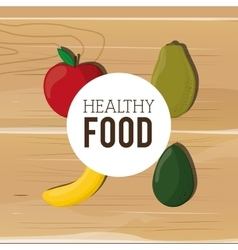 Assorted healthy food icons emblem vector