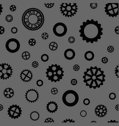Seamless pattern with black gears vector