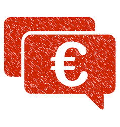 euro messages icon grunge watermark vector image