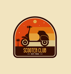 Scooter club badge or emblem vector