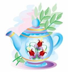 Teapot with colors vector