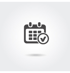 Marks calendar icon on white background vector