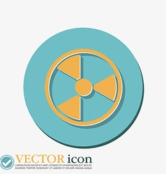 Nuclear danger icon vector