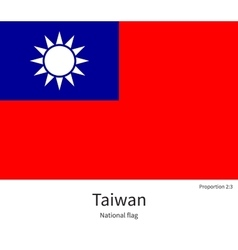 National flag of taiwan with correct proportions vector