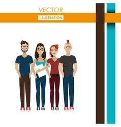 Young people design vector