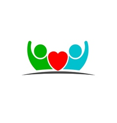 People love heart logo vector