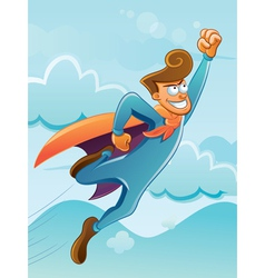 Flying super hero vector