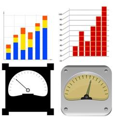 set charts vector image