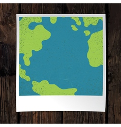 Photo frame with earth snapshot closeup earth day vector