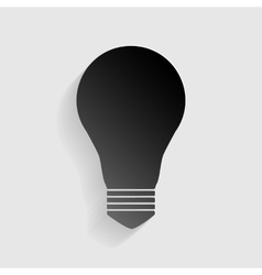 Light lamp sign black paper with shadow on gray vector