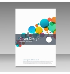 Abstract color circles Cover design template vector image