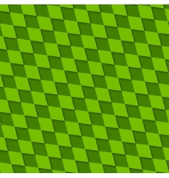 Abstract green squares pattern vector image vector image