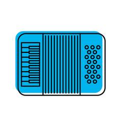 Accordion musical instrument icon vector