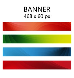 Banner abstract color vector image vector image