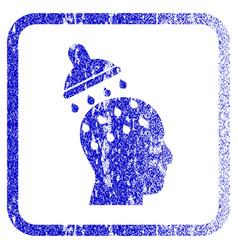 Brain washing framed textured icon vector