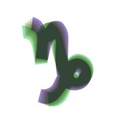 Capricorn sign colorful icon vector
