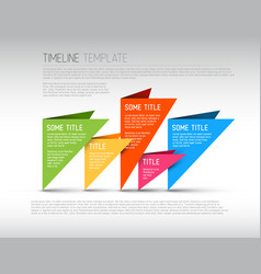 colorful infographic timeline report template vector image vector image