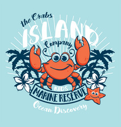 Crabs island kids ocean discovery vector