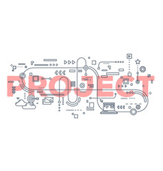 creative of project word lettering vector image