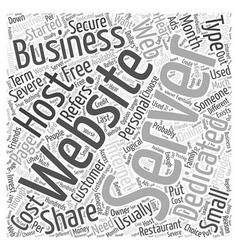 Dedicated servers word cloud concept vector