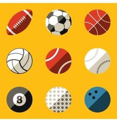 Flat icon set Sport ball vector image