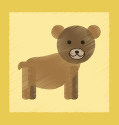 Flat shading style icon cartoon bear vector