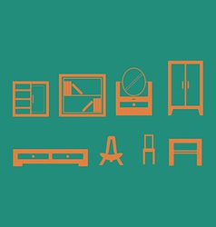 Furniture design set vector