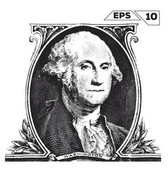 George washington on one dollar bill obverse vector