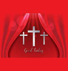 good friday background with silver cross vector image vector image
