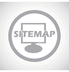 Grey sitemap sign icon vector