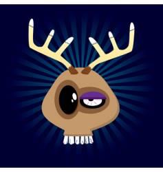 happy reindeer vector image vector image