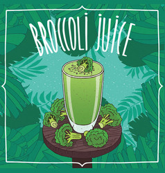 healthy fresh broccoli juice with vegetables vector image