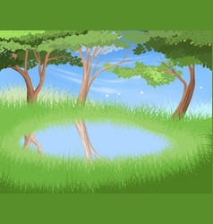 Lake in forest vector