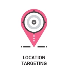 location targeting icon concept vector image vector image