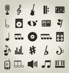 Musical icons9 vector image vector image