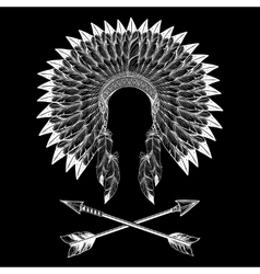Native american indian war bonnet vector