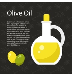 Olive oil template vector