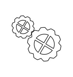 Pictogram gear wheel engine mechanism icon vector