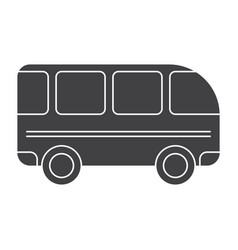 School bus silhouette vector