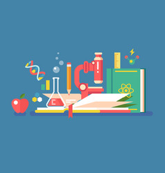 Science tools for education vector