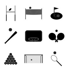 Sport icons set black silhouette vector