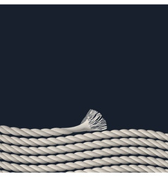 Stylish background with marine rope vector