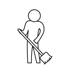 sweeping the floor vector image