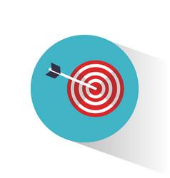 target objetive marketing concept vector image